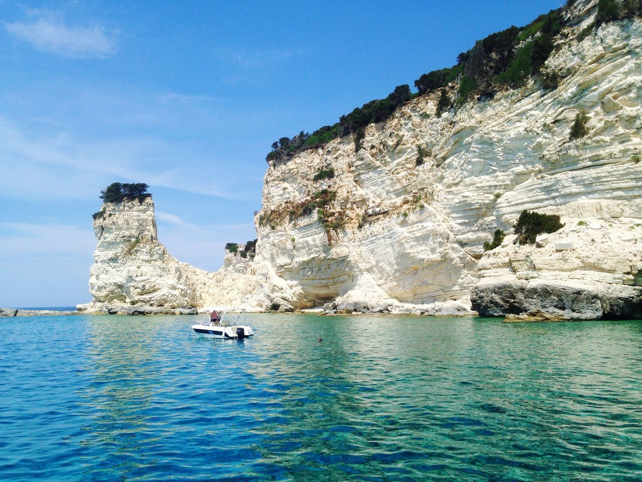 Hello World hite cliffs Cliffs Sea Blue Sky Bluesea Boats Summer Greece Island Fishing