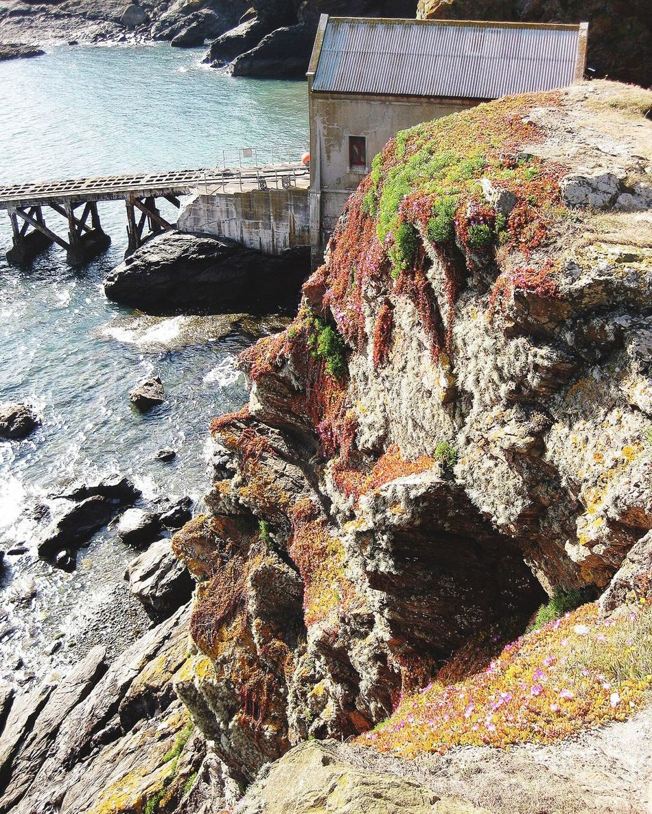 Beauty In Nature Cornwall Cornish Coast Lizard Peninsula Lifeboat Station... Rock - Object Cliff Beautiful scenery