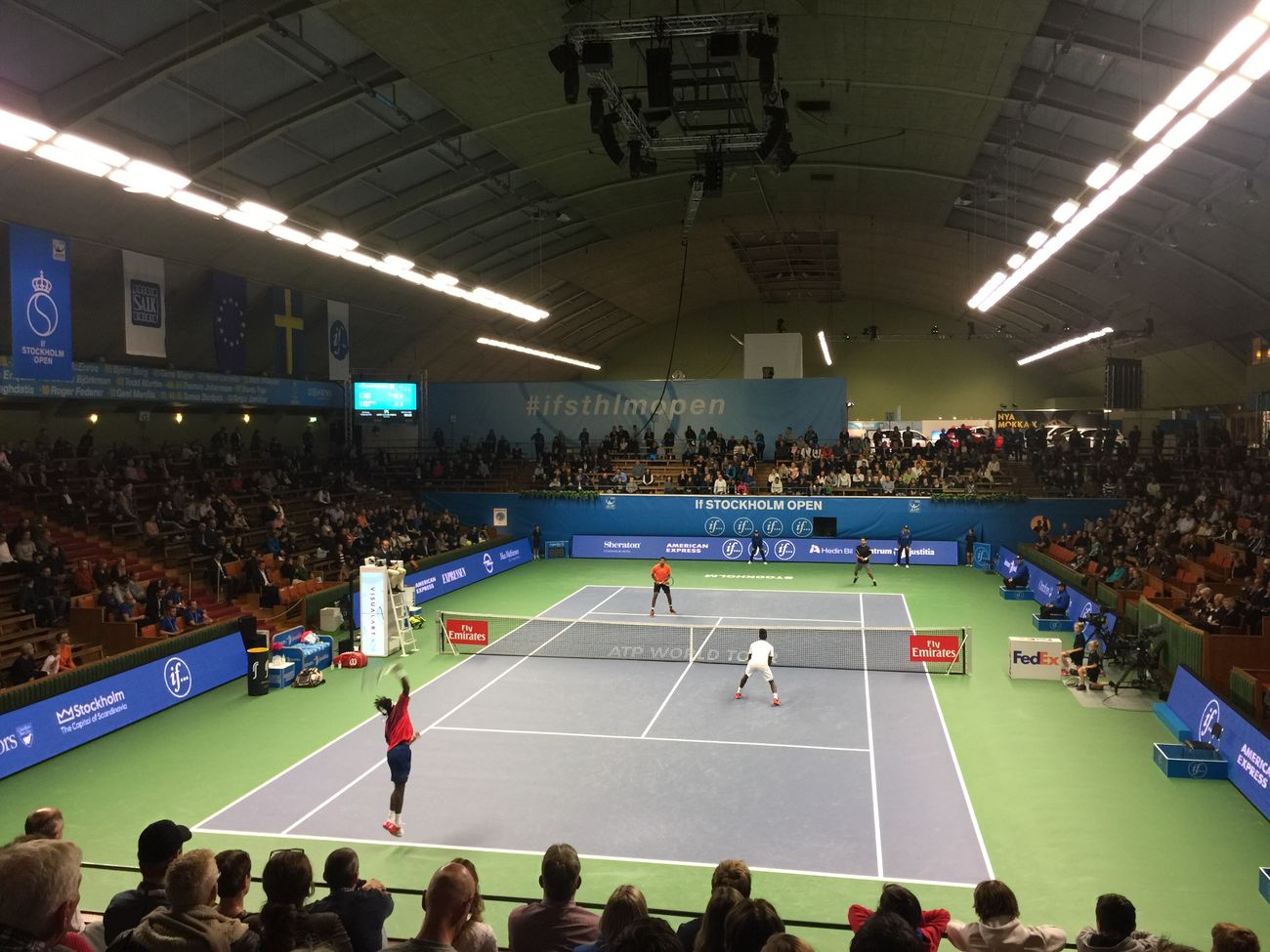 Sport Large Group Of People Stadium Crowd Watching Professional Sport Horizontal Indoors  People Adult STOCKHOLM Open
