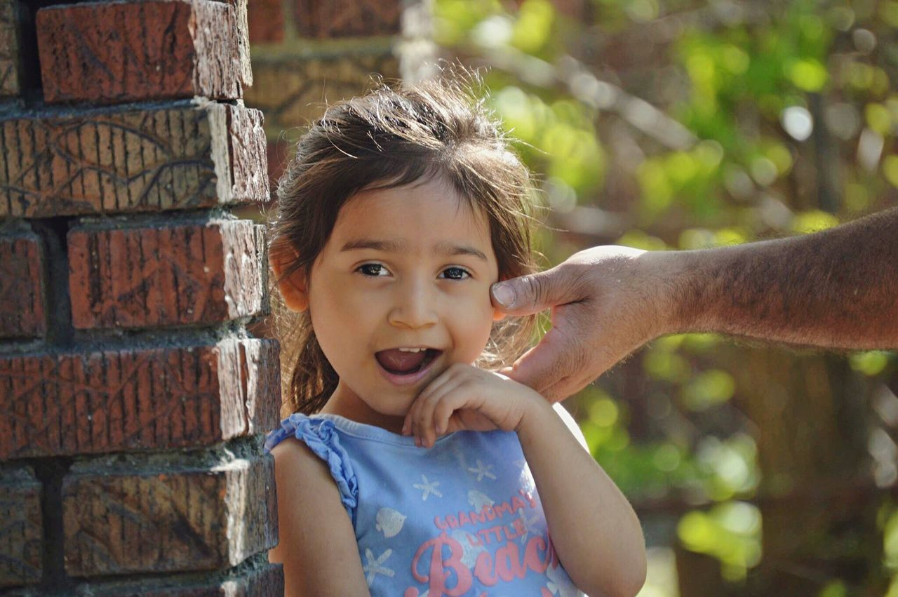 Looking At Camera Portrait Childhood Day Girls Outdoors Close-up Beauty Detroit Fouryearsold Grandpa 2017