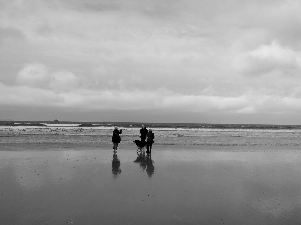 Shades Of Grey Bretagne Entre Ombre Et Lumiere Nature Beach Black And White France Reflection Family