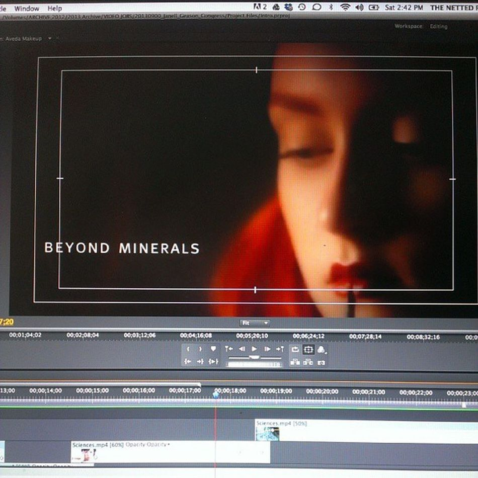 The sun came out in ATx and I'm back editing away for @jgeason 's Avedacongress presentation. Video Aveda edits