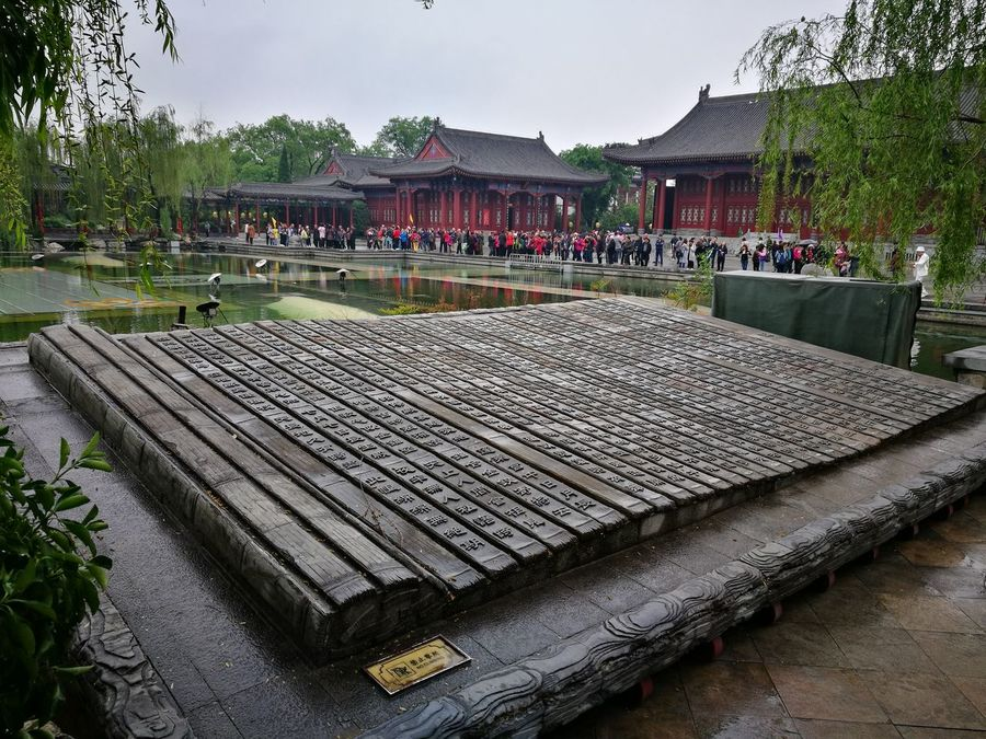 Art Is Everywhere Travel Destinations Outdoors Day People Large Group Of People Architecture Chinese Culture Caligraphy Bamboo Art Carved Stones Carved Stone Art