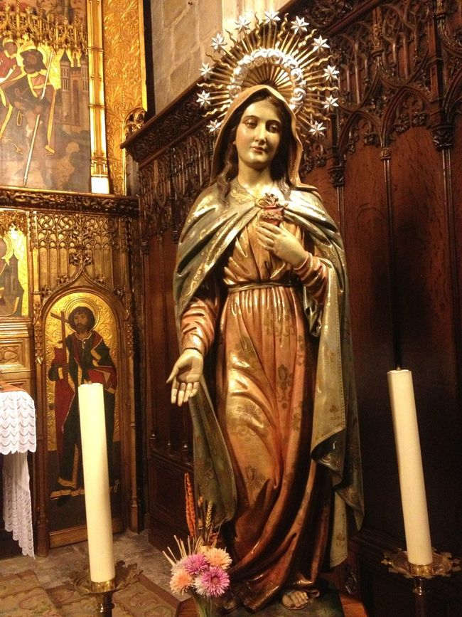43 Golden Moments Church Statue Sacred Praying Glow Amen