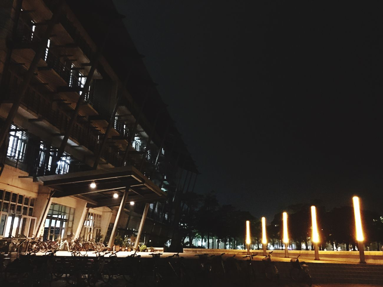Night Architecture Built Structure Building Exterior Outdoors Illuminated Architecture_collection Taiwan Architecturelovers Modern University Campus Campus Life MyUniversity Design Architecture Architecture And Art Window