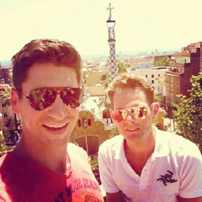 at #Park #Güell by #Gaudi with best friend #Juicy_lemontree Gaudi Park Guell Juicy_lemontree
