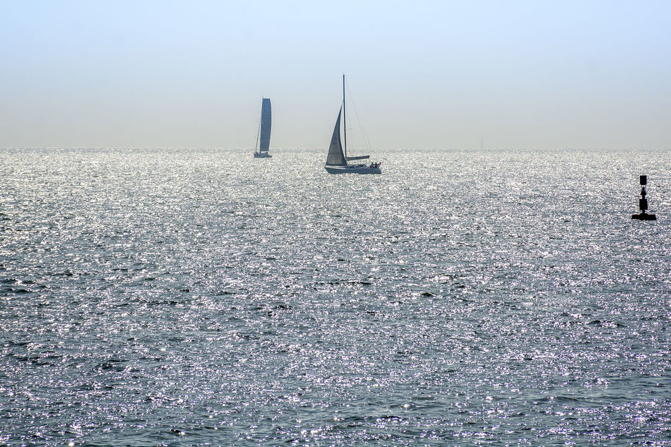 Ocean sailing boats and runners Beauty In Nature Blue Clear Sky Competition Day Horizon Over Water Mast Nature Nautical Vessel No People Outdoors Regatta Sailboat Sailing Sailing Ship Scenics Sea Sky Sport Sports Race Summer Water Yacht Yachting