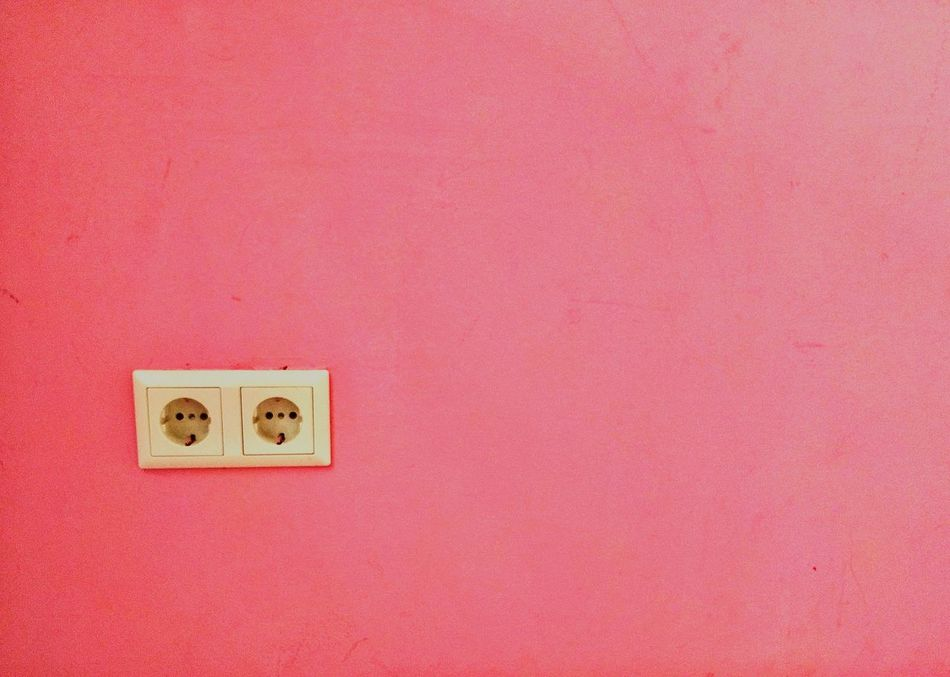 Color Palette Pink Pretty In Pink Pink Wall Electricity  Electrical Outlet Wall Fresh On Eyeem  Pink Color Pink! Pink Two Is Better Than One Millennial Pink