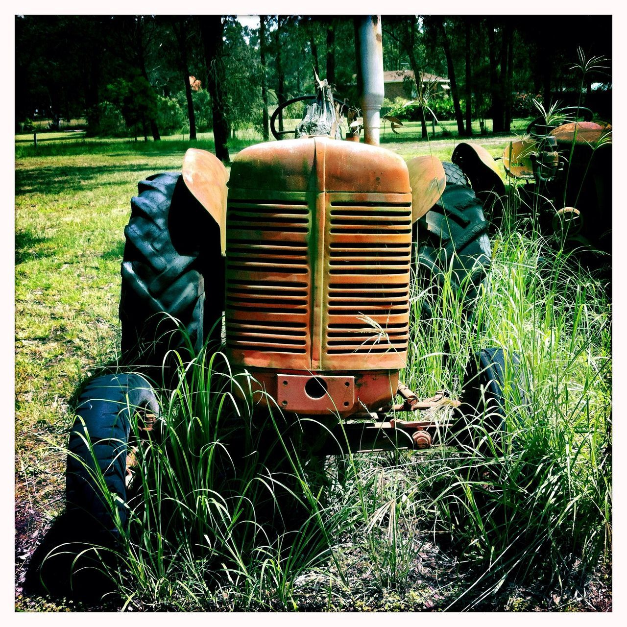 Front View Of Old Tractor