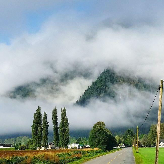 Yarrow, BC, Canada Sumas Mountain Clouded Over