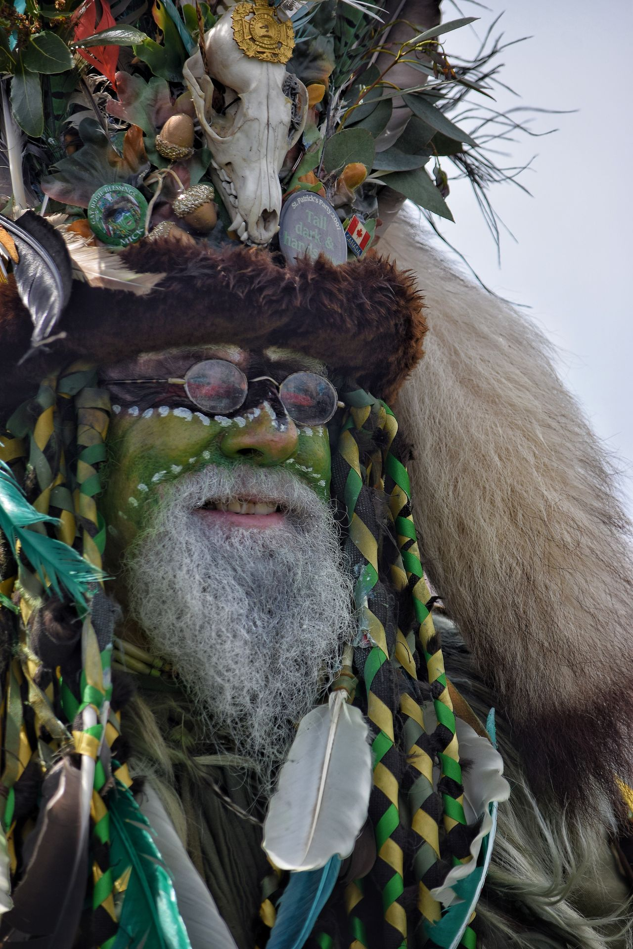 Jack In The Green Jack In The Green Festival Hastings East Sussex Parade Celebration Man Green Green Man Costume Close-up Day Uk Bearded Man Beard Life Nature Green Face May Festival Face Make Up May Day May Day 2017 Pagan Live For The Story The Portraitist - 2017 EyeEm Awards