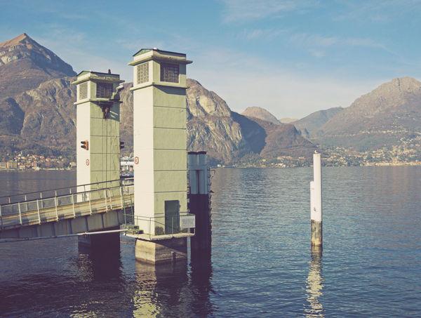 landing stage in Varenna, Lake Como, italy Como Lake Pier Italy Jetty Lake Como Landing Stage No People Retro Styled Scenics Travel Destinations Varenna