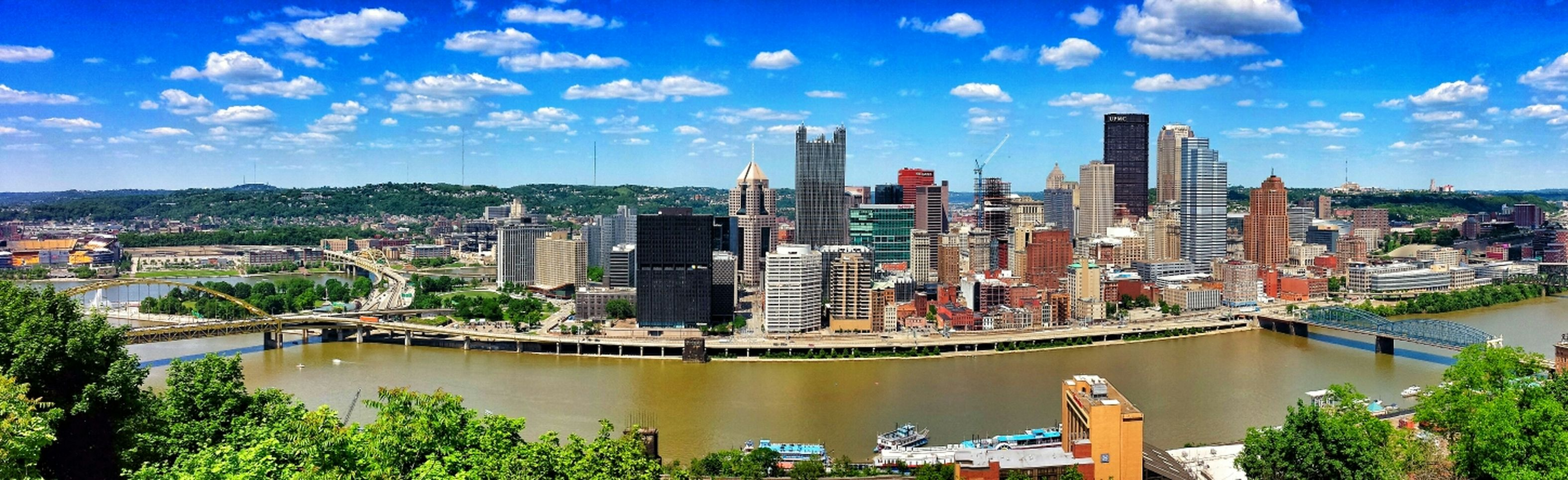 A view of downtown Pittsburgh, Pennsylvania from the Mount Washington Overlook. Panoramic Urban Landscape Streamzoofamily Eye Em Best Edits