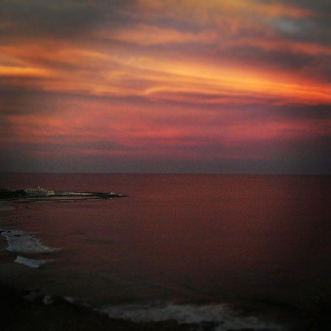 Pink Newcastle sunset