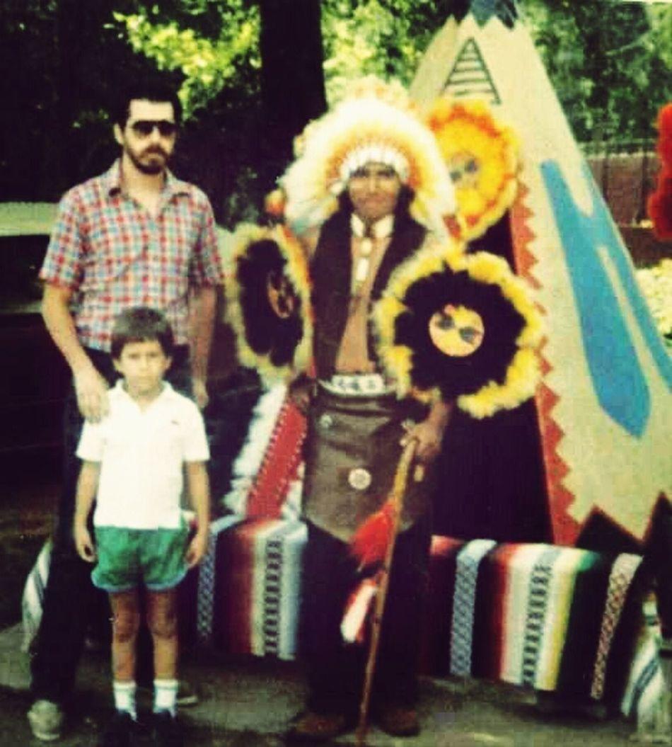 My brother, cousin, and I. Tsalagi Qualla