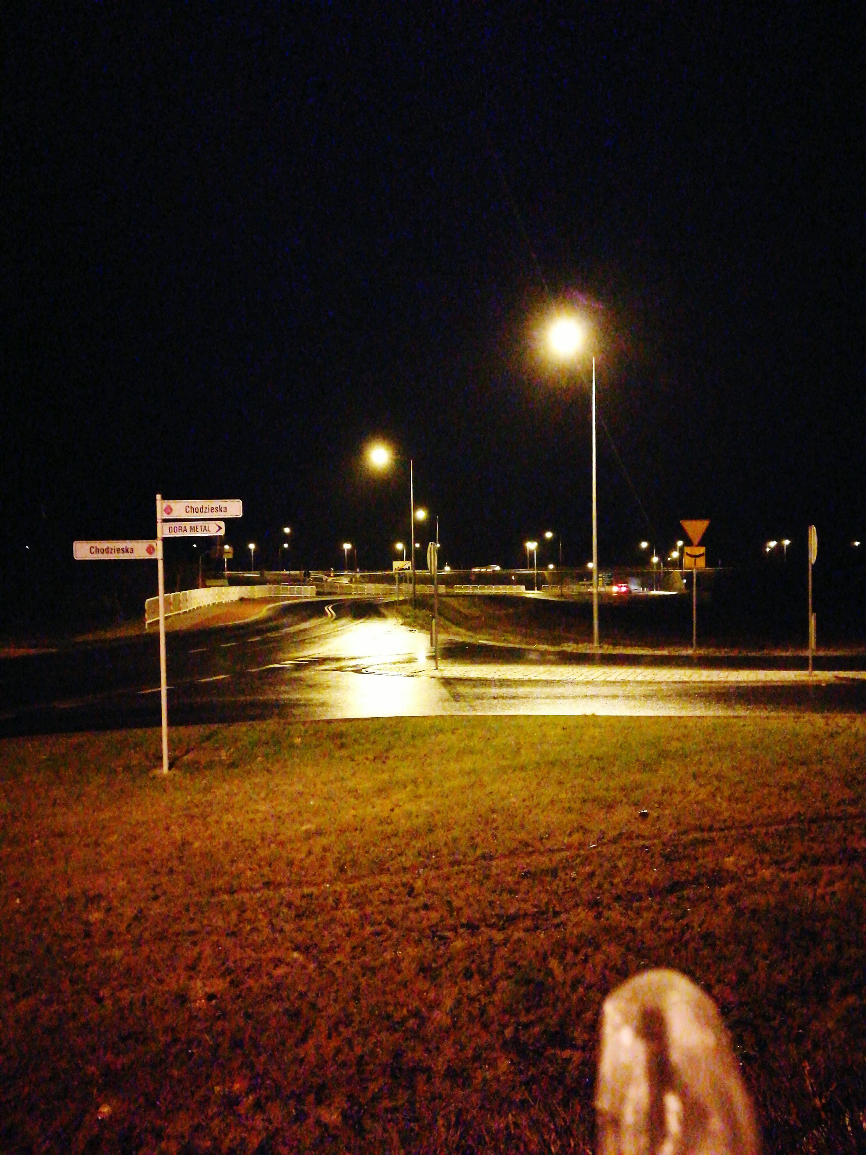 night, street light, illuminated, sky, outdoors, no people