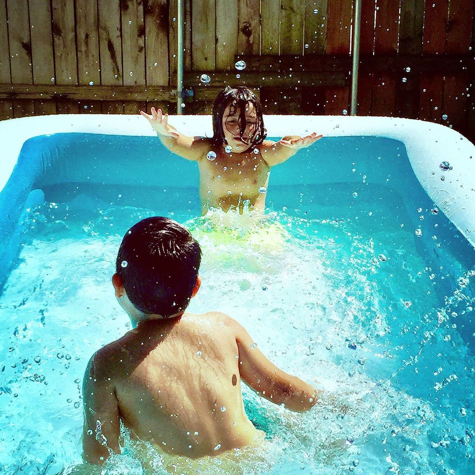 Water Bender Swimming Pool Water Boys Fun Childhood Leisure Activity Happiness Enjoyment Smiling Child Shirtless Wet Two People Swimming Taking A Bath Vacations Togetherness Day Cheerful Portrait Drops Droplets Summer Spring The Week On EyeEm EyeEmNewHere