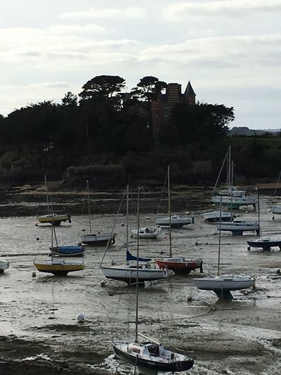 Ready for the water to come back! Boat Dinard Brittany France By Cathy Badi