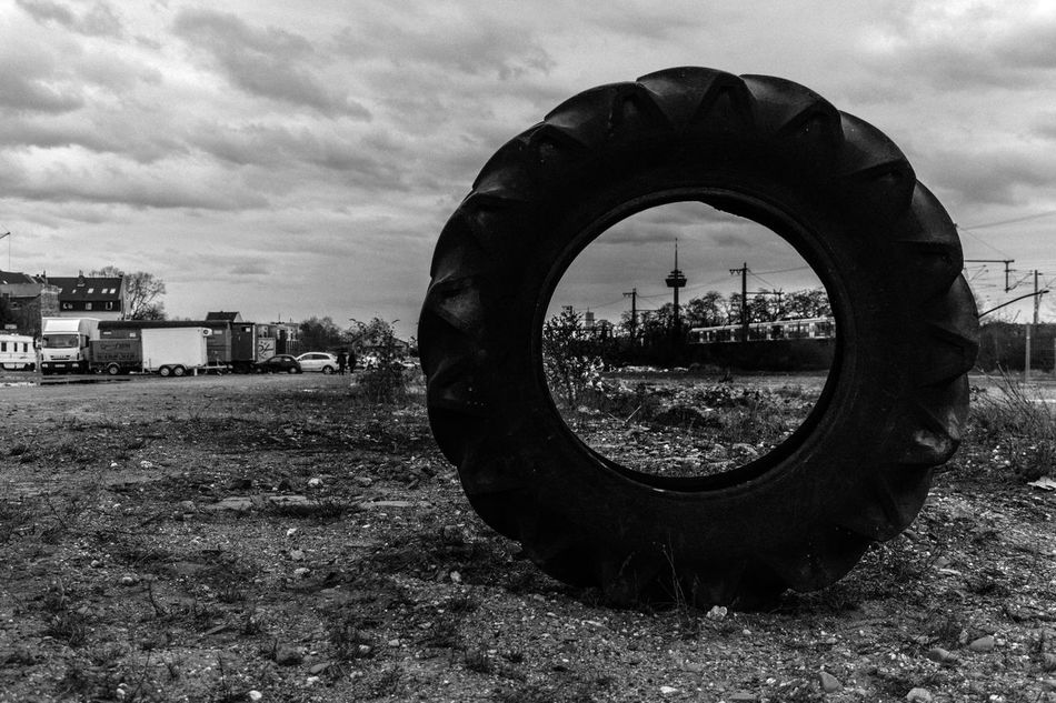 #City #cologne #ehrenfeld #urban Spring Fever Abandoned Architecture Built Structure Circle Close-up Cloud Cloud - Sky Cloudy Day Field Geometric Shape Grass Landscape Metal Nature Outdoors Round Sky Tranquility Wheel Showcase April