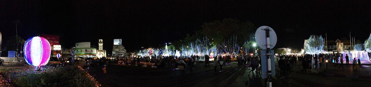 Lampang clock tower 😊⭐️ Night Panorama IPhoneography Iphone7 Streetphotography Thailand Lampang