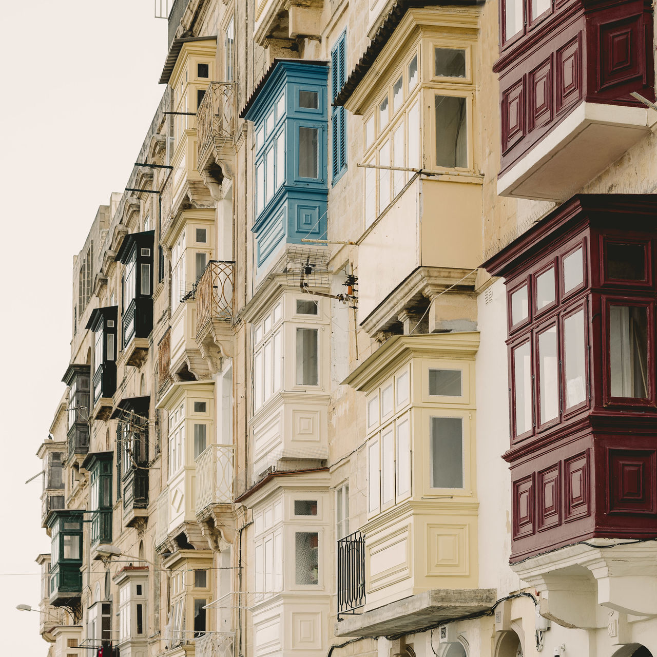Balconies of Valletta Architecture Balconies Balcony Building Exterior Malta Residential Building Townhouse Valletta Window
