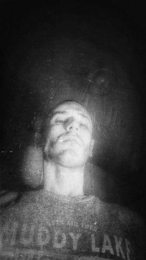 Black And White Grunge Self Portrait