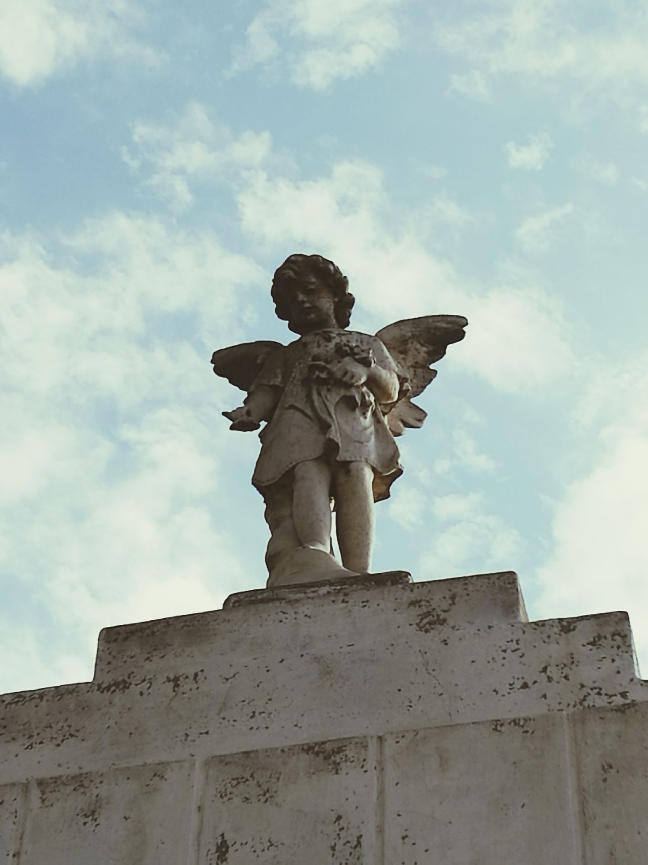 Angel Wings Sculpture Statue Art And Craft Human Representation History Low Angle View Travel Destinations Sky Day No People Outdoors Architecture