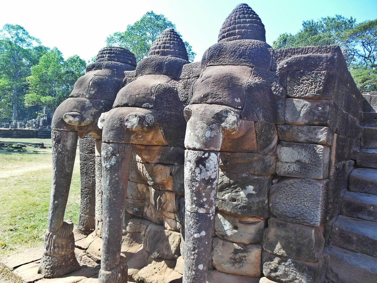 Ancient Architecture Ancient Civilization Angkor Elephant Terreace Angkor Thom Cambodia Elephant Terrace Eyeem Cambodia Eyeem History Khmer Empire No People Sculpture Travel Destinations