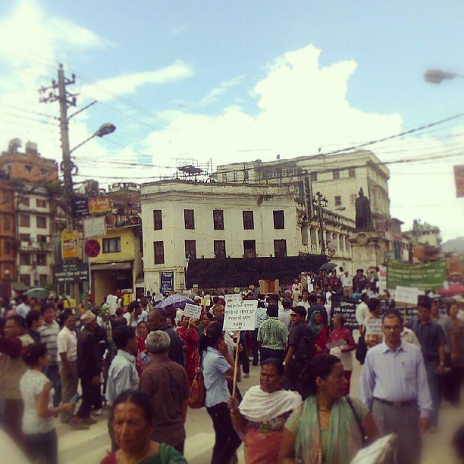 Protest AgainstCooperatives NewRoad Basantapur