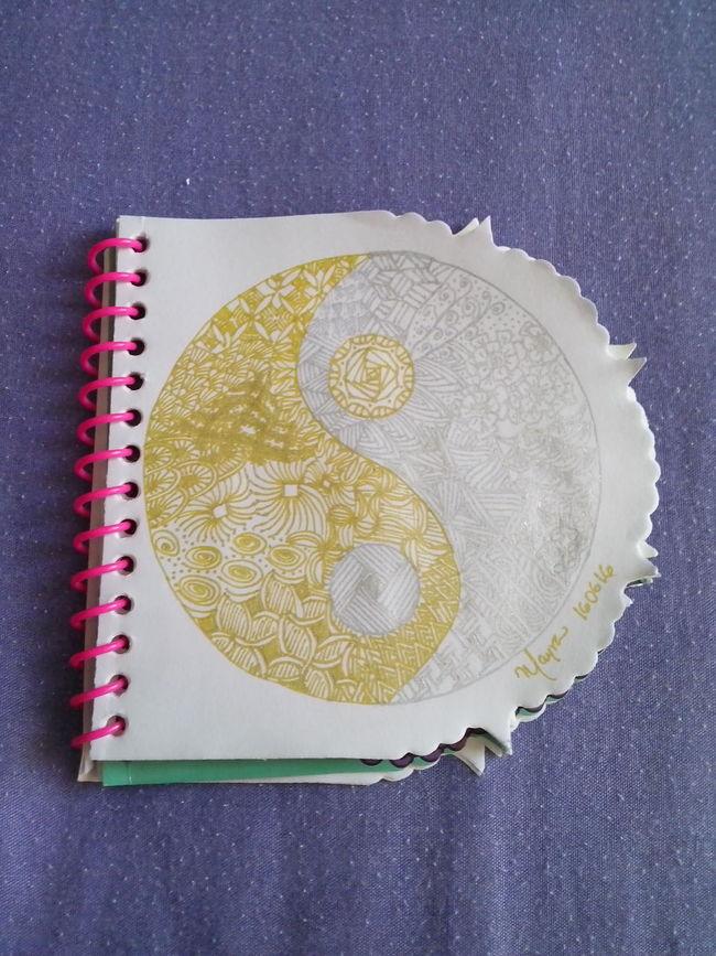 Mandala Zentangle Zentangleart Patterns Drawing Eyeem Art Art, Drawing, Creativity Yin Yang Silver And Gold Taking Photos