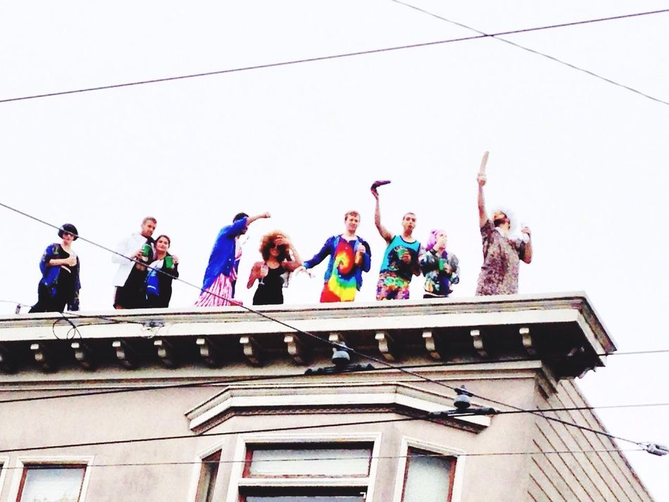 2015 Bay To Breakers Traditional and freaky Marathon in San Francisco California Enjoying Life Steetphotography Baytobreakers Party Time! Collected Community Rooftop Capture The Moment Better Look Twice Carnival Crowds And Details Break The Mold