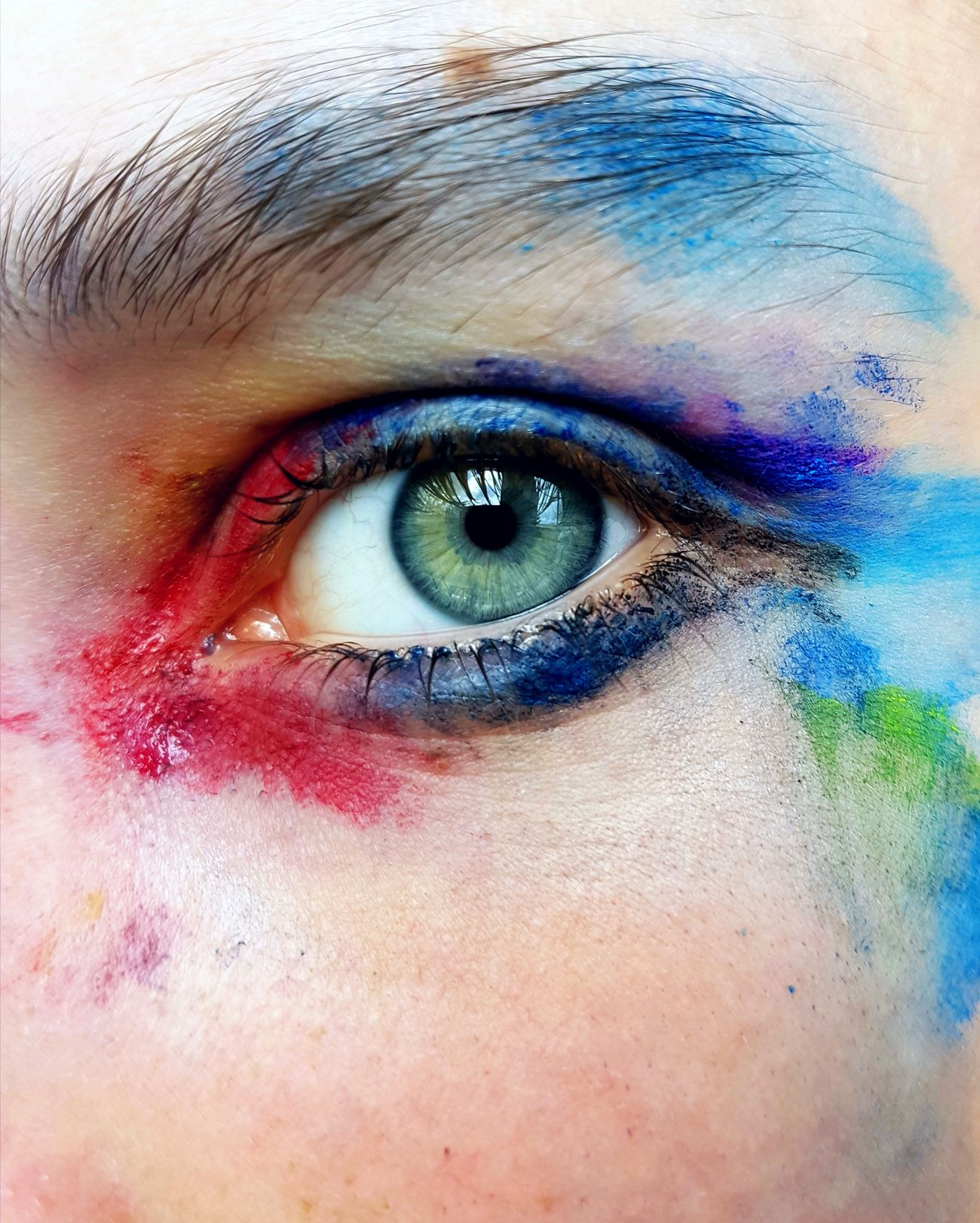 I saw your eyes and swung Sea Human Eye Art Lovely Delicate Beauty Beautiful Colour Eye Painting Painted Lady