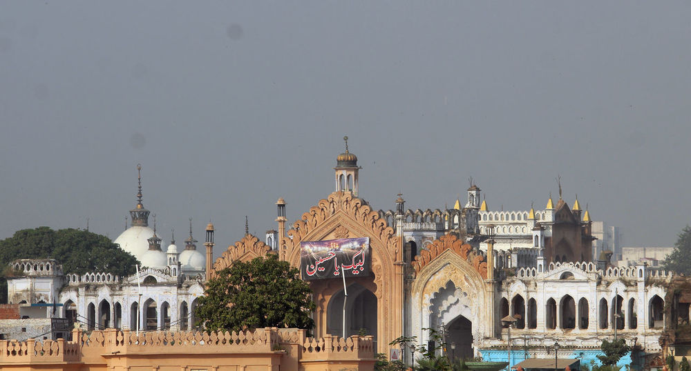 Architecture Travel Destinations Façade Outdoors Sky Lucknowdiaries Arch Pattern Lucknow👌City Travel Photography Chota Imambara High Angle View