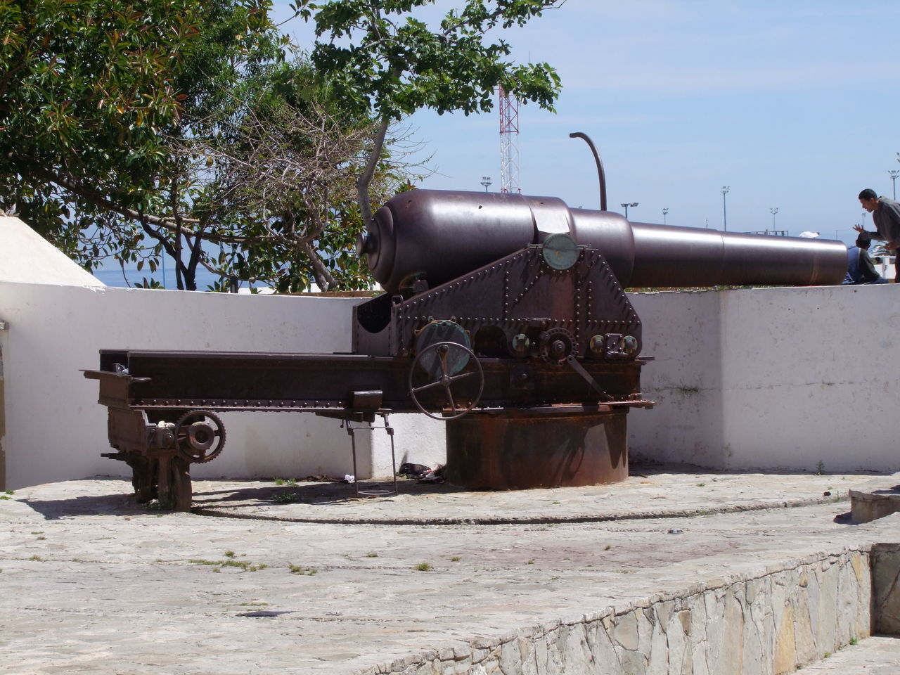 One of Two Guns at the Docks, bought from UK Blue Sky Cannon Docks Gun Gun Emplacement Historical History Metal Military Guns Morocco Naval Gun No People Old-fashioned Sunlight And Shadow Tangier Tangier City Tourist Attraction  Tourist Destination Tree War Weapon