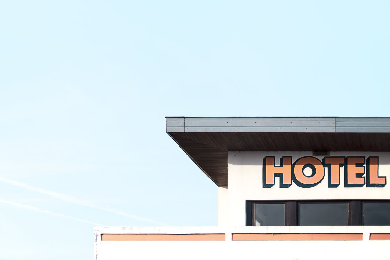 Abstract Abstract Photography Abstractions In Colors Angles And Lines Architecture Architecture Architecture_collection Blue Blue Sky Building Exterior Day Hotel Low Angle View Minimal Minimalism Minimalobsession No People Orange Outdoors Pastel Pastel Colors Sky Text