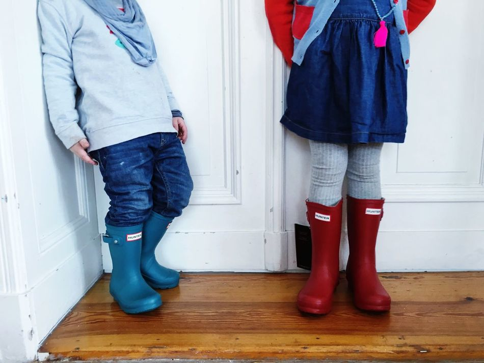 Wellies  Hunters Boots Siblings Raining