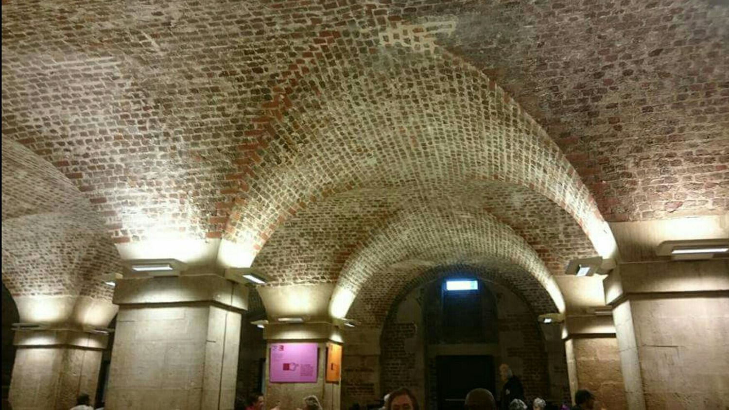 Crypt Cafe Architecture Bricks Ceiling Vaulted Ceilings Arches Heritage Building Atmospheric Mood