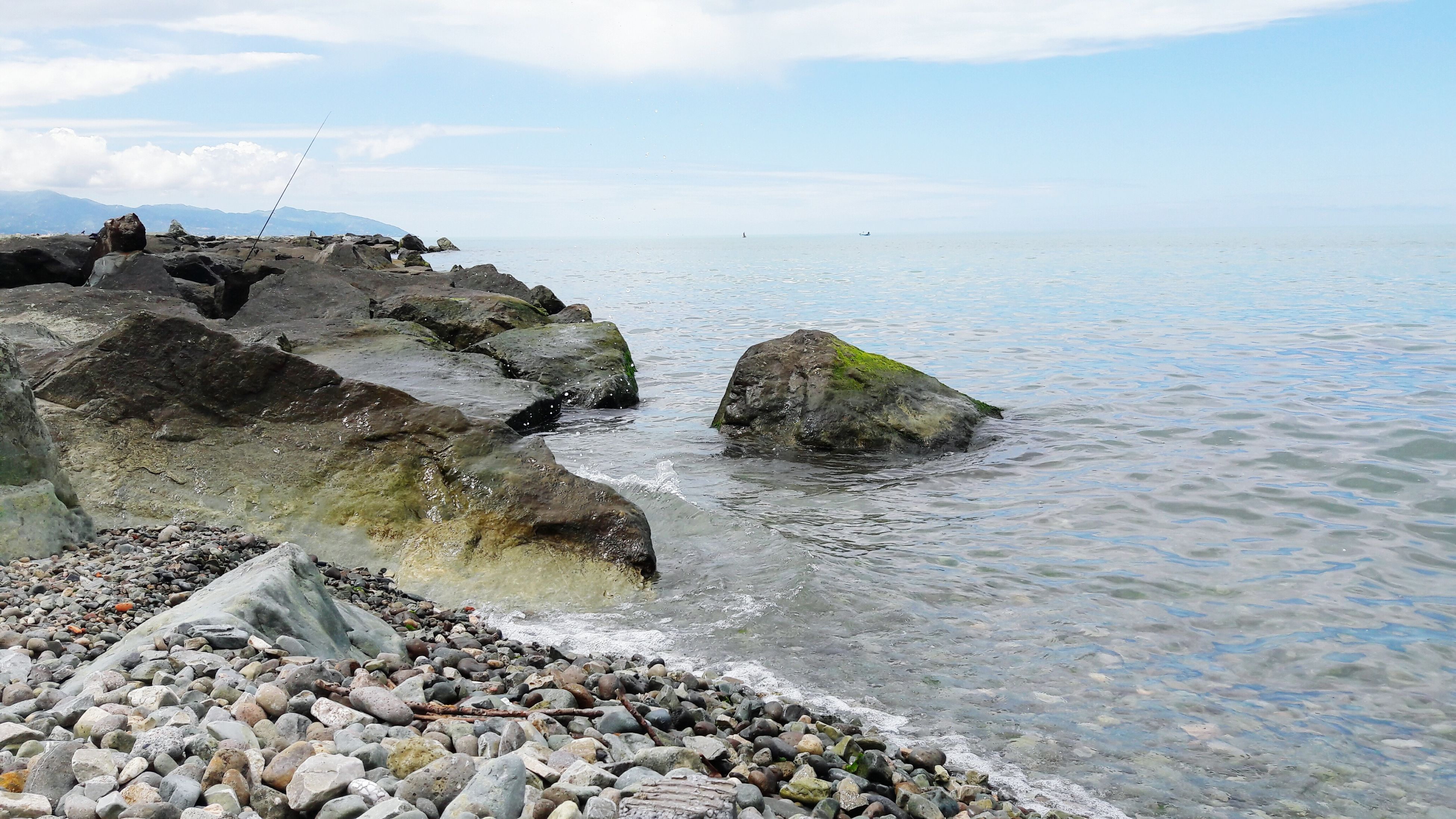 Sea Horizon Over Water Beach Rock - Object No People Nature Water Day Outdoors Lava Beauty In Nature Sky UnderSea