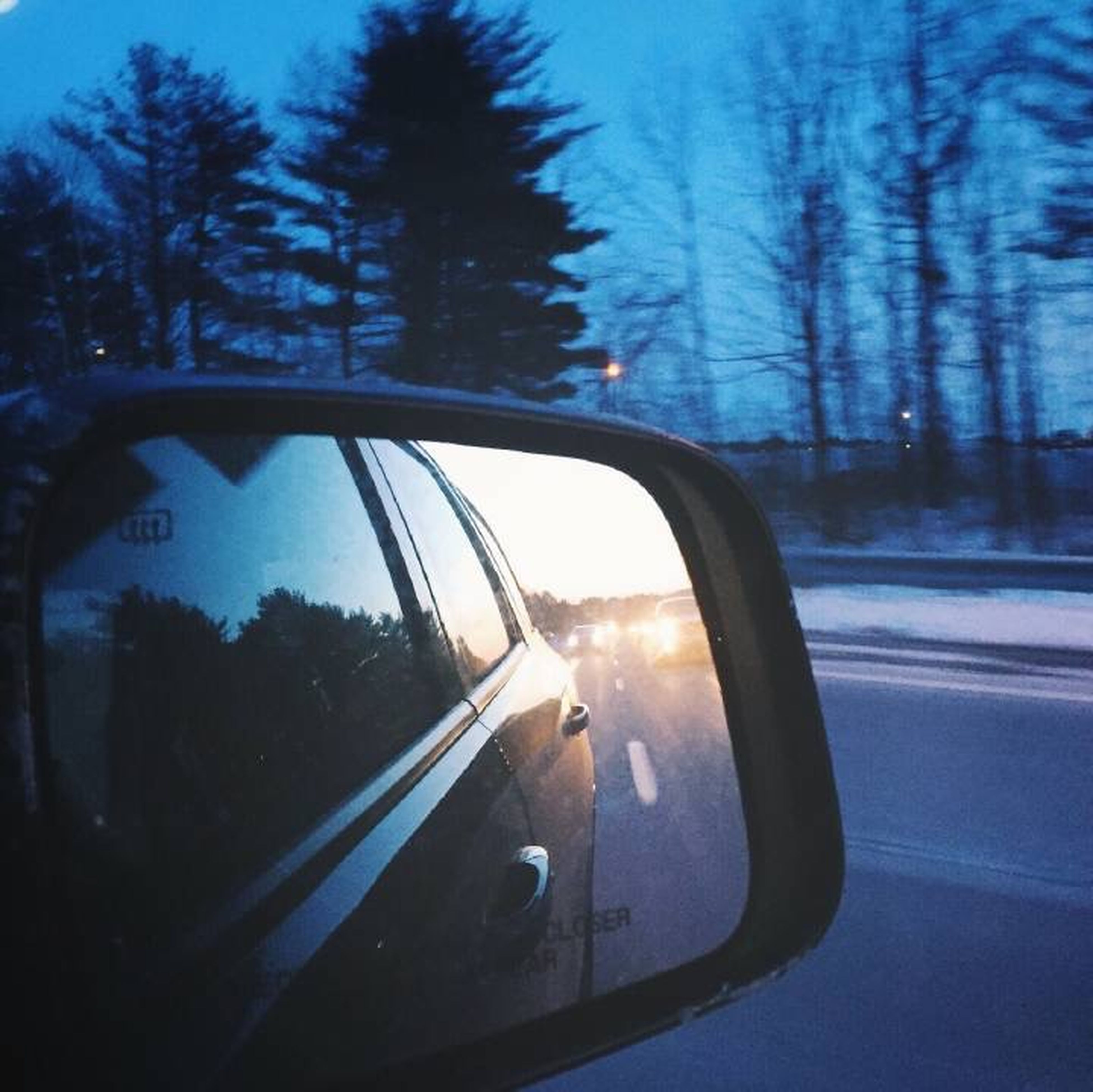 transportation, land vehicle, mode of transport, car, vehicle interior, windshield, car interior, side-view mirror, road, tree, glass - material, on the move, transparent, travel, reflection, street, sky, road trip, part of, silhouette