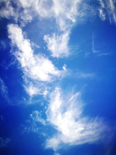 Blue Sky Backgrounds Low Angle View Cloud - Sky Sky Only No People Nature Day Outdoors Scenics Beauty In Nature