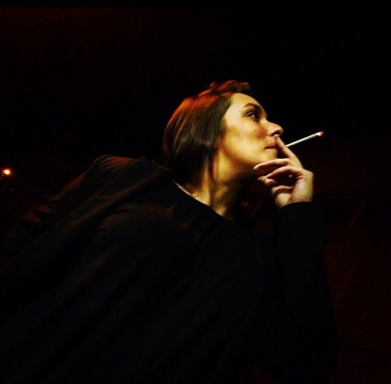 Beautiful Beauty Friends Forever Friends Smoking Posing One Person Dark Darkness