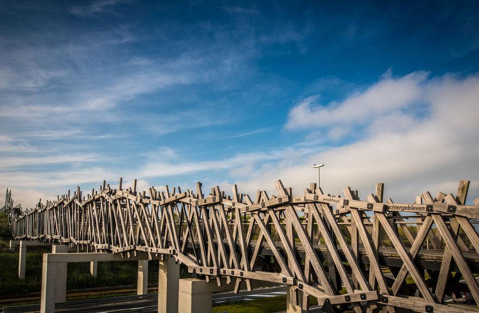 Arquitecture Bridge Brown Cloud Dry Colours No People Outdoors Sky Wood Wooden Bridge Blankenberge Beach Belgium