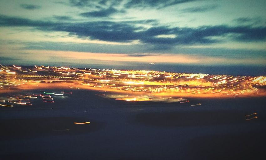 A City In Motion, Showing Imperfection From The Airplane Window. Dallas Forth Worth In The Evening. I'm Flying May 2016 My Favorite Photo