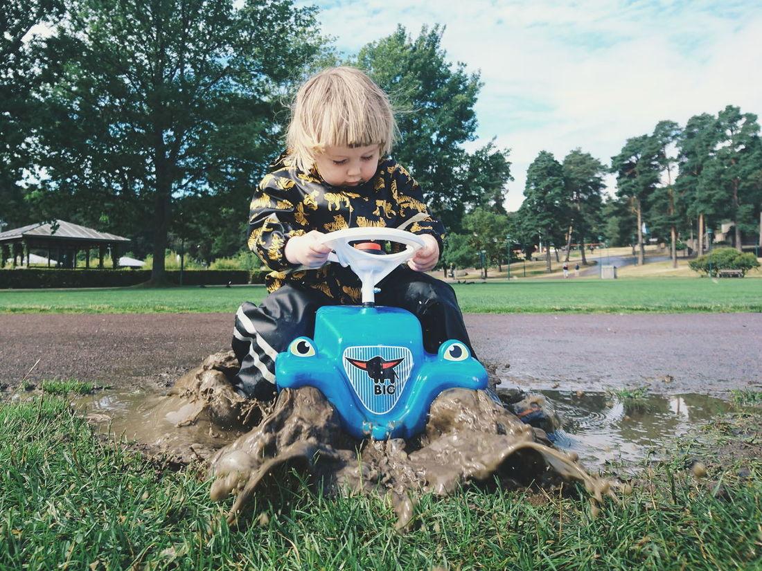 Childhood Mud Outdoors Boy Play Playing Splash Sweden Summer Car Toy Car The Week On EyeEm