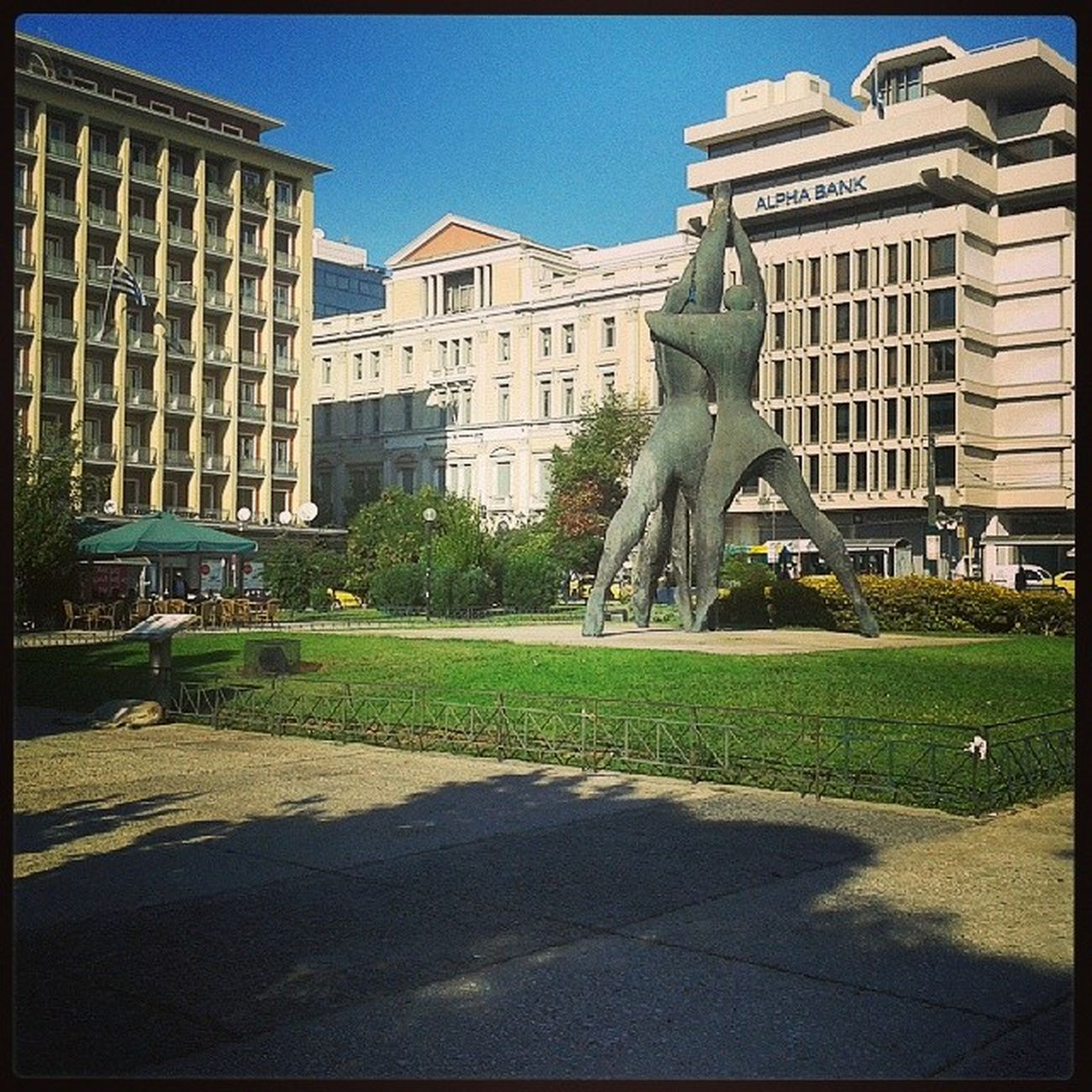 Klafthmonos Square,beautiful isnt it? New Athens ExpectUs Greece food vintage lol kiss iphonesia instagreece smokingweed acropolis grass pictureoftheday photooftheday instanew gold iphone remember sweet new