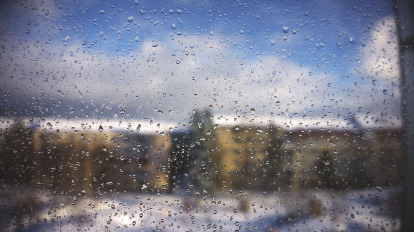 Backgrounds Close-up Day Drop Focus On Foreground Full Frame Glass - Material Nature No People Outdoors Sky Transparent Water Wet Window