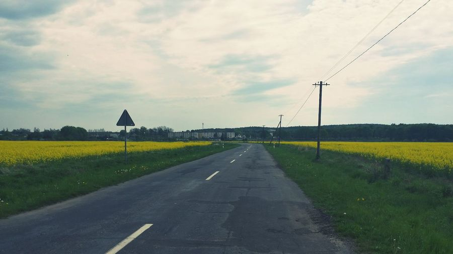 On The Road Road Nature Clouds Czerwiensk Beautiful Nature Nature Colors Poland