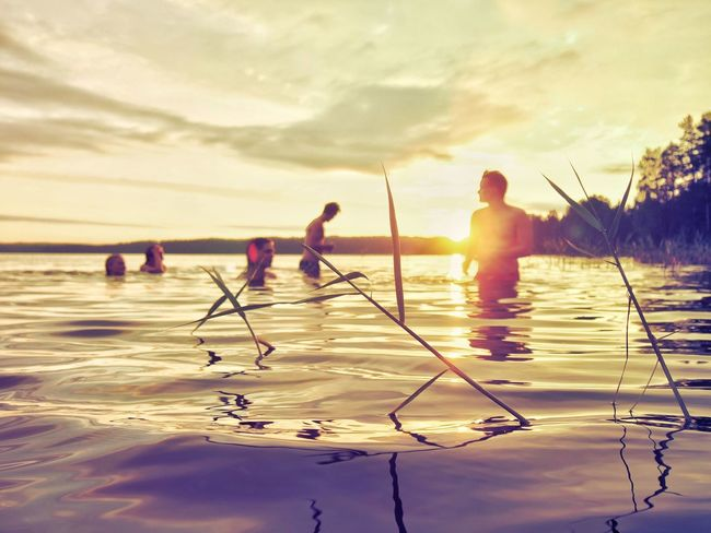 First Eyeem Photo Summer Lake Sunset Cottage Cottage Life Finland Finland Summer Swimming