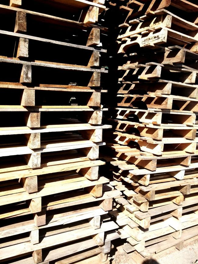 Stack of wooden pallets. Pallets Wooden Pallets Stack Of Pallets Suny Day Industrial Industry Wearhouse Logistics