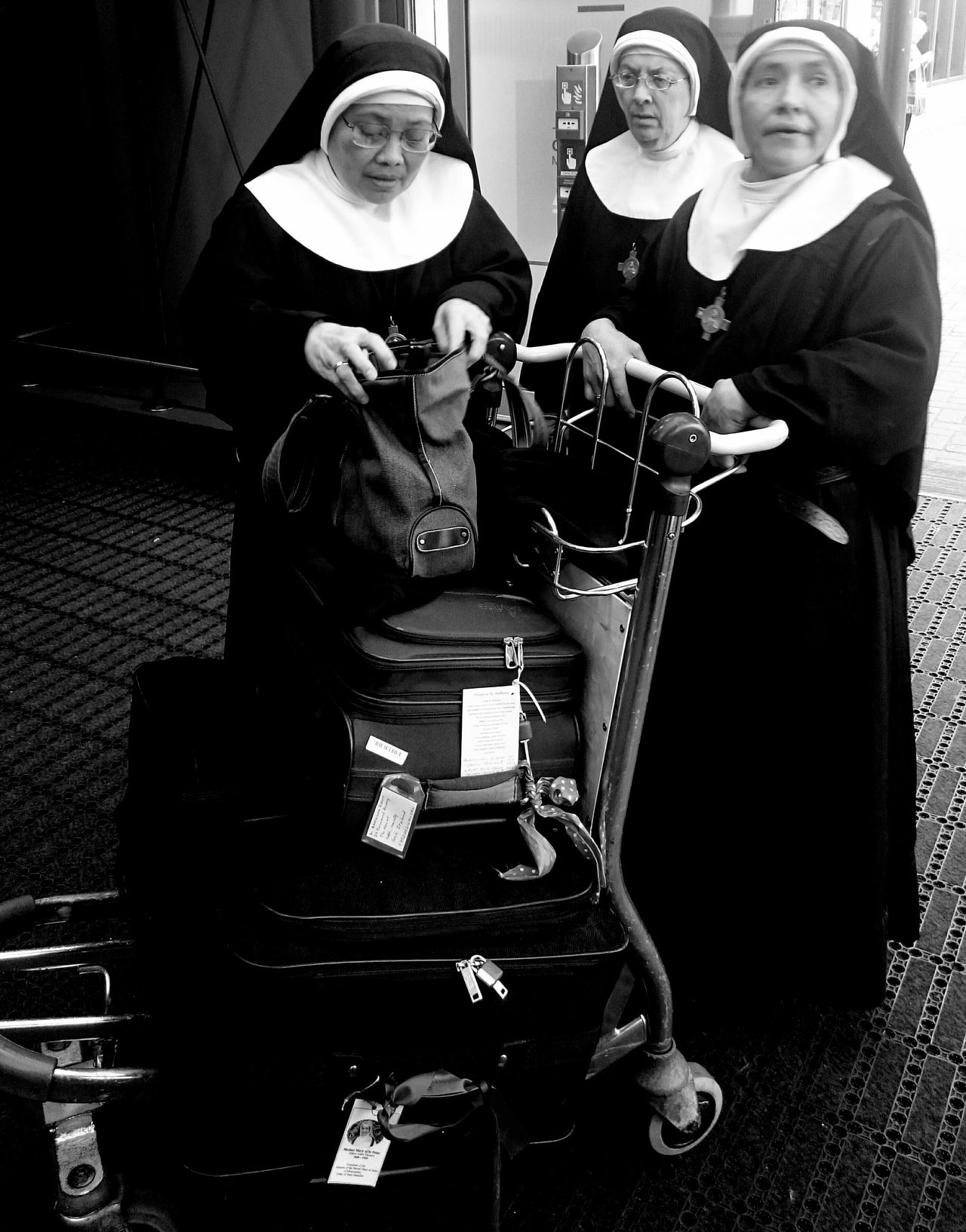 Nuns on the run Blackandwhite Photography Mobilephotography The Tourist Sony Xperia Z3 London City Airport